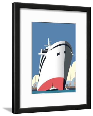 Ocean Cruises Blank - Dave Thompson Contemporary Travel Print-Dave Thompson-Framed Art Print
