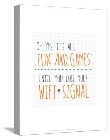 Wifi Signal - Wink Designs Contemporary Print-Michelle Lancaster-Stretched Canvas Print