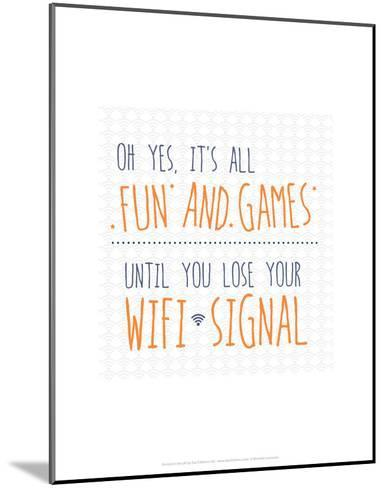 Wifi Signal - Wink Designs Contemporary Print-Michelle Lancaster-Mounted Art Print