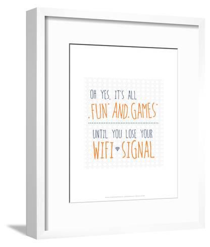 Wifi Signal - Wink Designs Contemporary Print-Michelle Lancaster-Framed Art Print