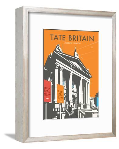 Tate Britain (Orange) - Dave Thompson Contemporary Travel Print-Dave Thompson-Framed Art Print