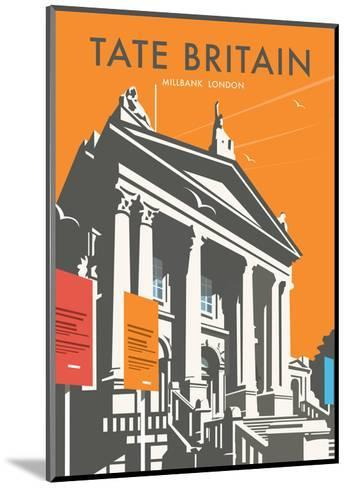 Tate Britain (Orange) - Dave Thompson Contemporary Travel Print-Dave Thompson-Mounted Art Print