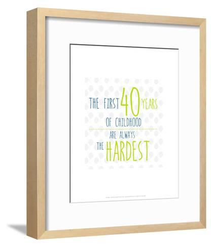 40 Years of Childhood - Wink Designs Contemporary Print-Michelle Lancaster-Framed Art Print