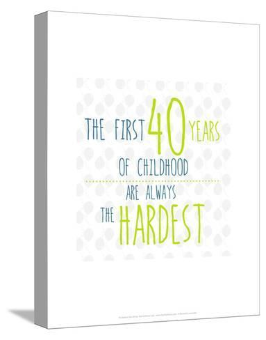 40 Years of Childhood - Wink Designs Contemporary Print-Michelle Lancaster-Stretched Canvas Print