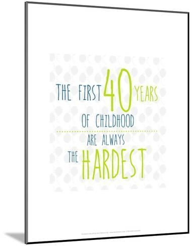40 Years of Childhood - Wink Designs Contemporary Print-Michelle Lancaster-Mounted Art Print