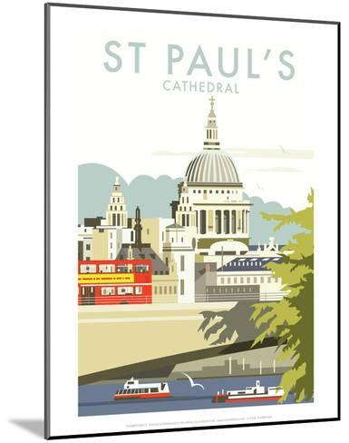 St Pauls Cathedral - Dave Thompson Contemporary Travel Print-Dave Thompson-Mounted Art Print