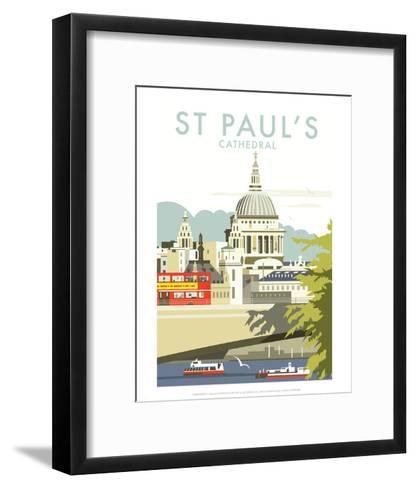 St Pauls Cathedral - Dave Thompson Contemporary Travel Print-Dave Thompson-Framed Art Print