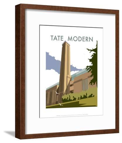 The Tate Modern - Dave Thompson Contemporary Travel Print-Dave Thompson-Framed Art Print