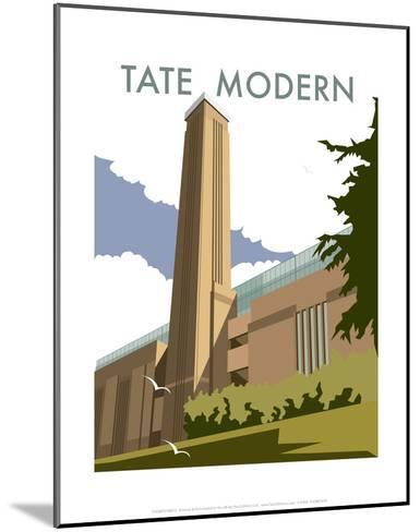 The Tate Modern - Dave Thompson Contemporary Travel Print-Dave Thompson-Mounted Art Print