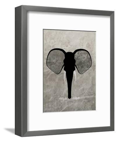 Elephant - Jethro Wilson Contemporary Wildlife Print-Jethro Wilson-Framed Art Print