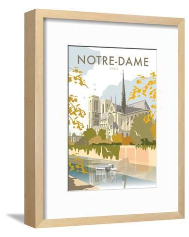 Notre Dame - Dave Thompson Contemporary Travel Print-Dave Thompson-Framed Art Print