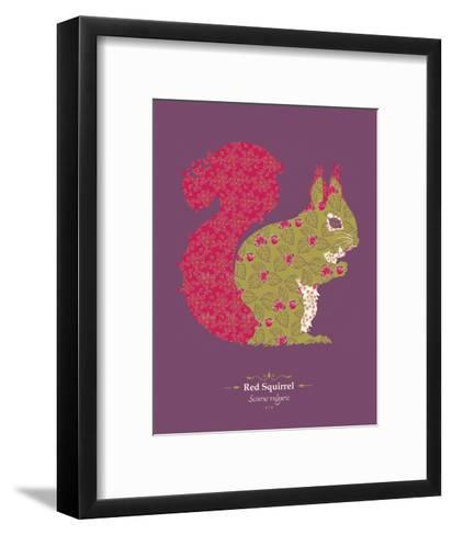 Red Squirrel - WWF Contemporary Animals and Wildlife Print- WWF-Framed Art Print