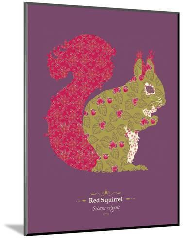 Red Squirrel - WWF Contemporary Animals and Wildlife Print- WWF-Mounted Art Print