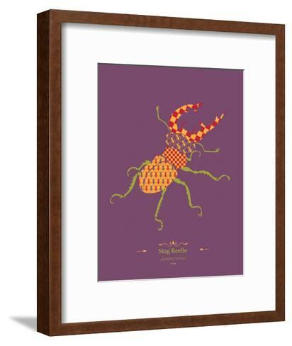 Stag Beetle - WWF Contemporary Animals and Wildlife Print-WWF-Framed Art Print
