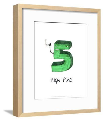 High Five - Tom Cronin Doodles Cartoon Print-Tom Cronin-Framed Art Print