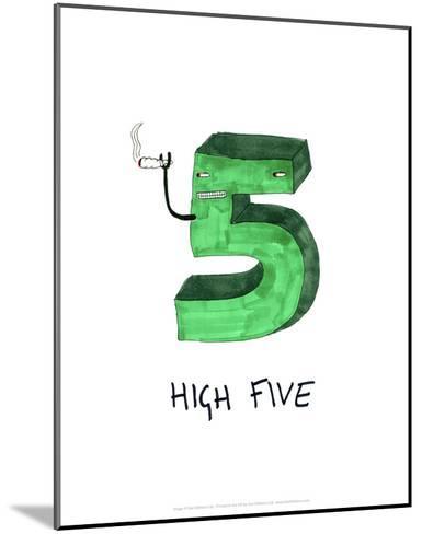 High Five - Tom Cronin Doodles Cartoon Print-Tom Cronin-Mounted Art Print