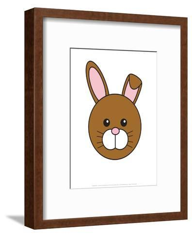 Rabbit - Animaru Cartoon Animal Print- Animaru-Framed Art Print