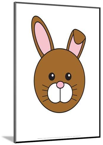 Rabbit - Animaru Cartoon Animal Print- Animaru-Mounted Giclee Print