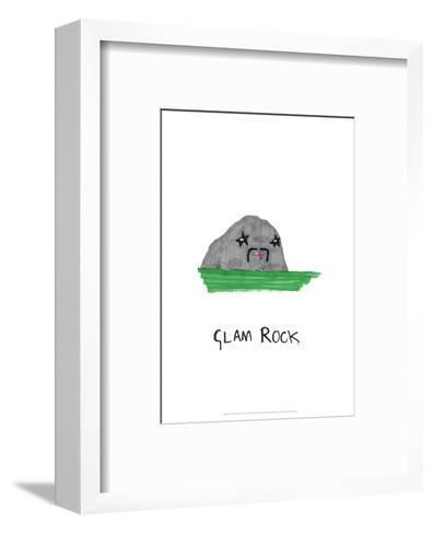 Glam Rock - Tom Cronin Doodles Cartoon Print-Tom Cronin-Framed Art Print