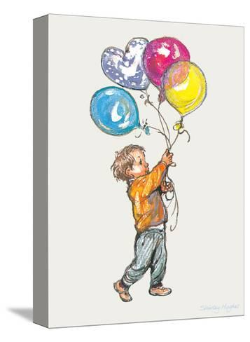 Balloons - Alfie Illustrated Print-Shirley Hughes-Stretched Canvas Print