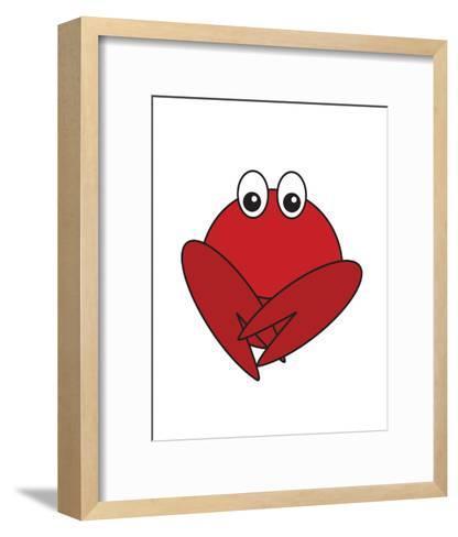 Lobster - Animaru Cartoon Animal Print-Animaru-Framed Art Print