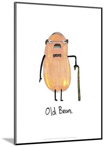 Old Bean - Tom Cronin Doodles Cartoon Print-Tom Cronin-Mounted Giclee Print