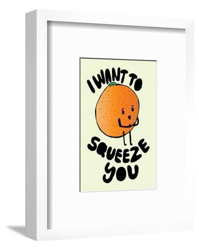 I Want To Squeeze You - Tom Cronin Doodles Cartoon Print-Tom Cronin-Framed Art Print