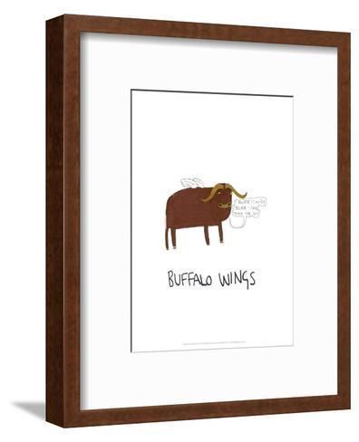 Buffalo Wings - Tom Cronin Doodles Cartoon Print-Tom Cronin-Framed Art Print
