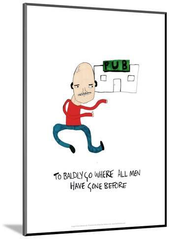 PUB - Tom Cronin Doodles Cartoon Print-Tom Cronin-Mounted Giclee Print