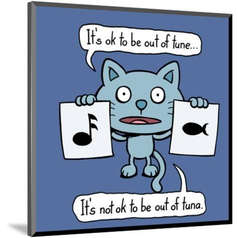 Tune vs Tuna - Antony Smith Cattitude Cartoon Print-Antony Smith-Mounted Art Print