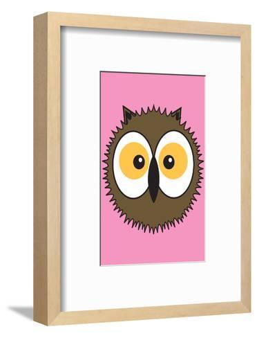 Owl - Animaru Cartoon Animal Print- Animaru-Framed Art Print
