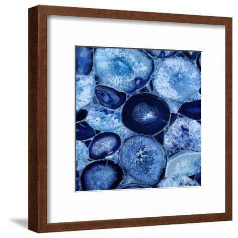 Agate in Blue I-Danielle Carson-Framed Art Print