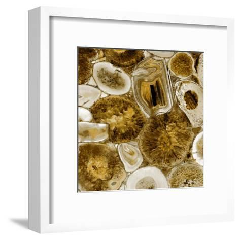 Agate in Gold I-Danielle Carson-Framed Art Print