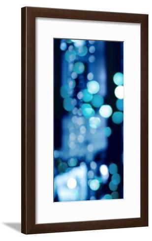 Brilliant Blue Triptych I-Kate Carrigan-Framed Art Print