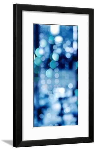 Brilliant Blue Triptych II-Kate Carrigan-Framed Art Print