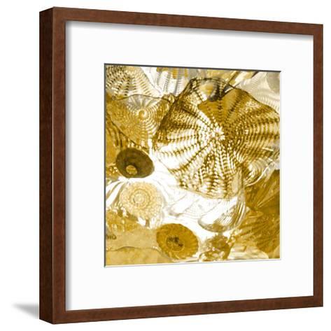 Underwater Perspective in Gold-Charlie Carter-Framed Art Print