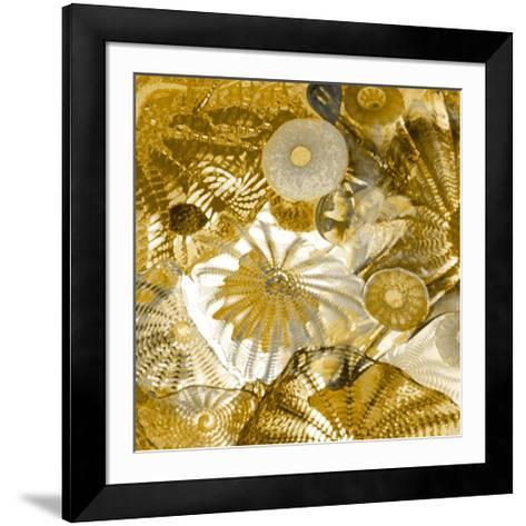 Underwater Perspective in Gold-Charlie Carter-Framed Art Print