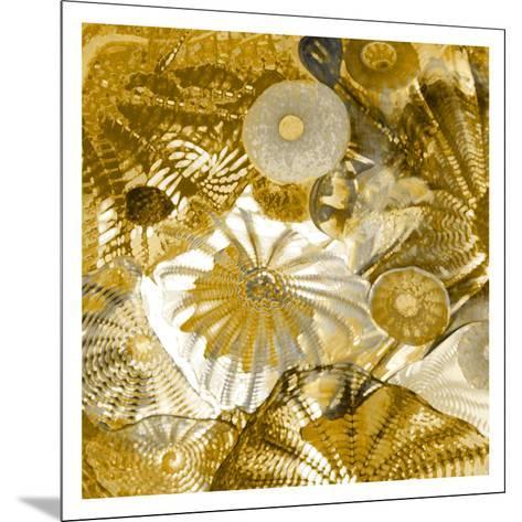 Underwater Perspective in Gold-Charlie Carter-Mounted Giclee Print