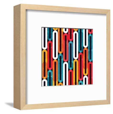 Bright Colorful Grunge Pattern--Framed Art Print