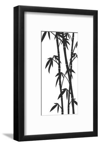 Bamboo Stems Ink Sketch--Framed Art Print