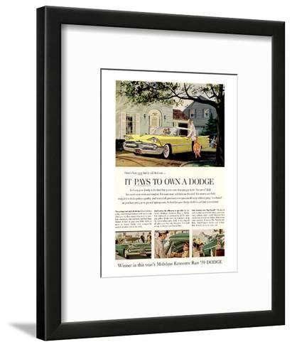 Chrysler It Pays to Own Dodge--Framed Art Print