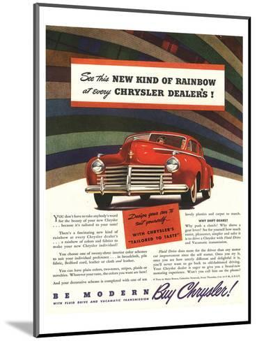 Chrysler Rainbow Ad--Mounted Art Print