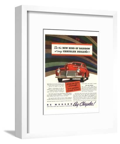 Chrysler Rainbow Ad--Framed Art Print