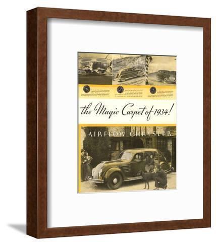 Chrysler Airflow- Magic Carpet--Framed Art Print