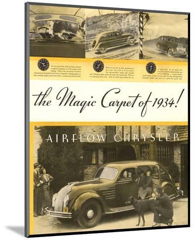 Chrysler Airflow- Magic Carpet--Mounted Art Print