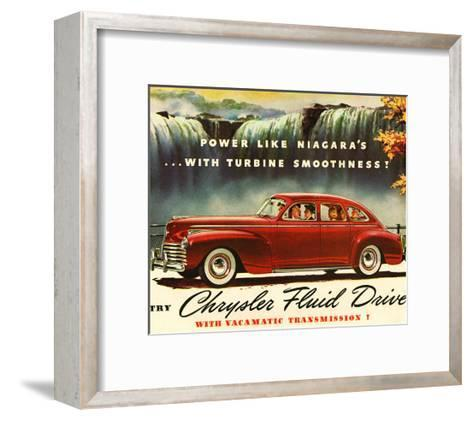 Chrysler Fluid Drive - Niagara--Framed Art Print