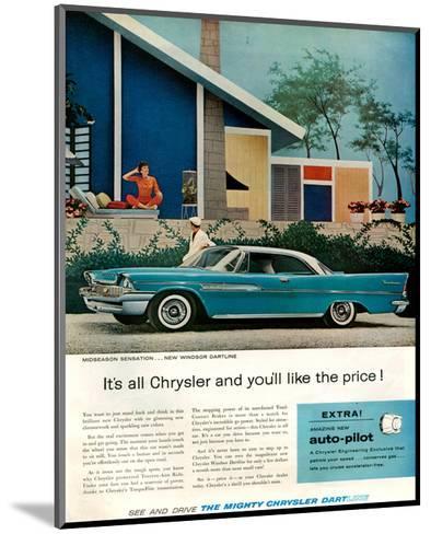 Chrysler New Windsor Dartline--Mounted Art Print
