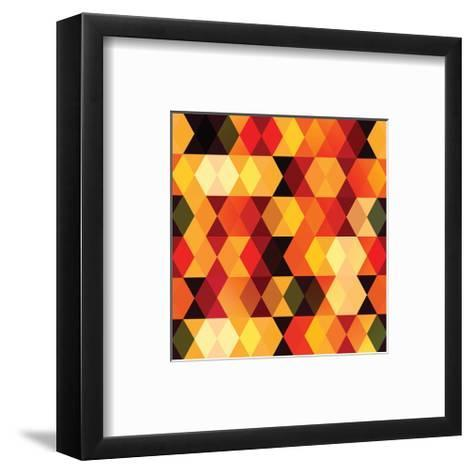 Chevron Diamond Patterns--Framed Art Print