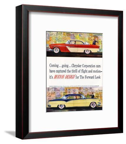 Chrysler - Motion-Design--Framed Art Print