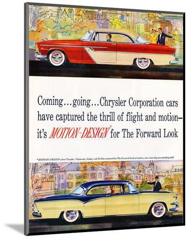Chrysler - Motion-Design--Mounted Art Print